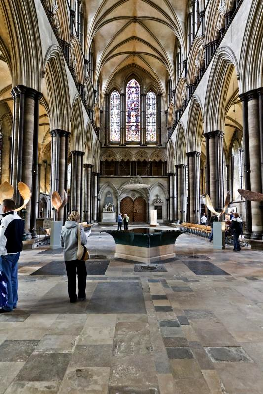 "Salisbury Cathedral - ""Water Feature"" or more correctly, font"