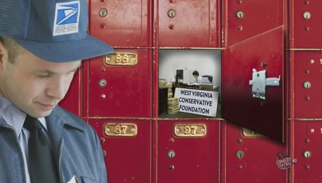 Daily Show - Post Office Box joke