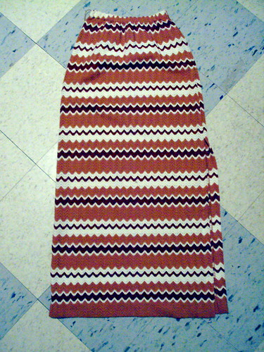 Chevron Pattern Long Skirt