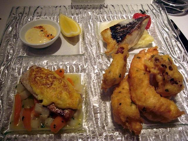 Mosaic seafood trilogy
