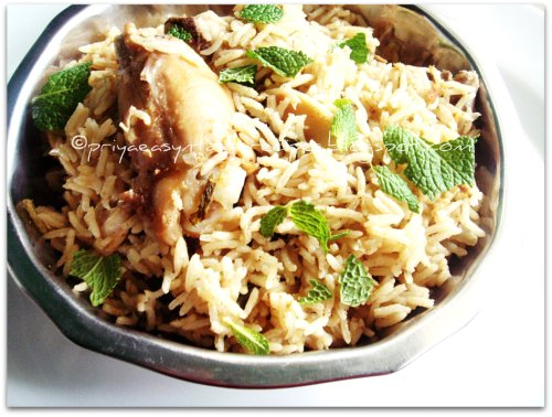 Chicken vella briyani