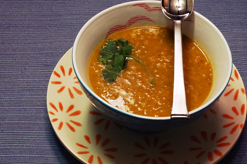 Curried Acorn Squash and Lentil Soup