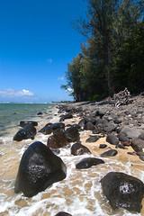 Morning at Ke'e Beach (Emily Miller Kauai) Tags: hawaii rocks northshore kauai keebeach