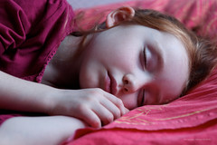 To sleep (christian_jacquet) Tags: girl bed quiet child sleep lit redhair enfant dormir fille calme rousse