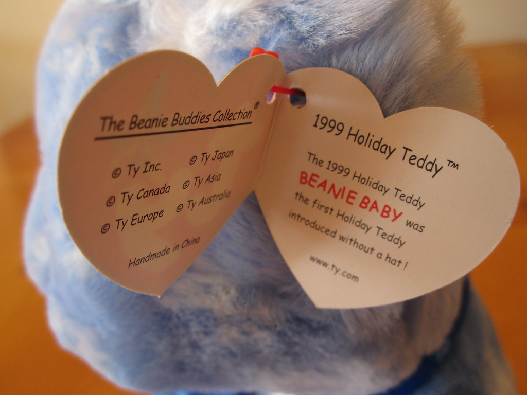 Ty 1999 Holiday Teddy Beanie Buddy Hang Tag (jessicagreen0202) Tags   christmas xmas baby 3c7d464917c9