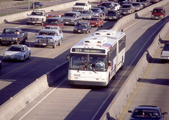 Bus in HOV lane (houstontranstar) Tags: bus metro hovlane
