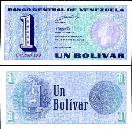1 Bolívar Venezuela 1989, P68
