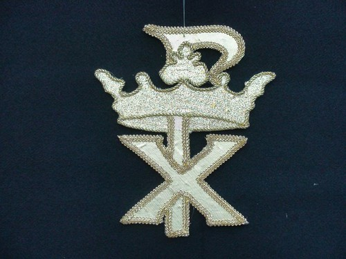 Chi Rho with a crown