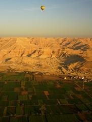 hot air ballooning over west bank of Nile (Elvir72) Tags: egypt nile cairo hotairballoon aswan luxor
