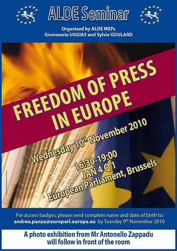Liberté  de presse en Europe : Attention Danger!