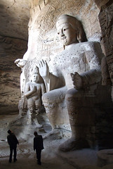Looks out the window (LeelooDallas) Tags: china autumn sculpture fall statue landscape asia buddha dana cave grottoes datong yungang iwachow
