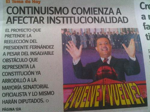 Leonel Fernandez Continuismo comienza afectar institucionalidad