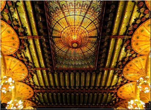 Barcelona architecture - Ceiling Palau de la Musica Catalana