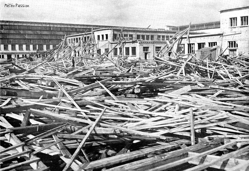 dégâts de la tempête du 22 février 1914 sur les bâtiments de l'exposition coloniale de Lyon