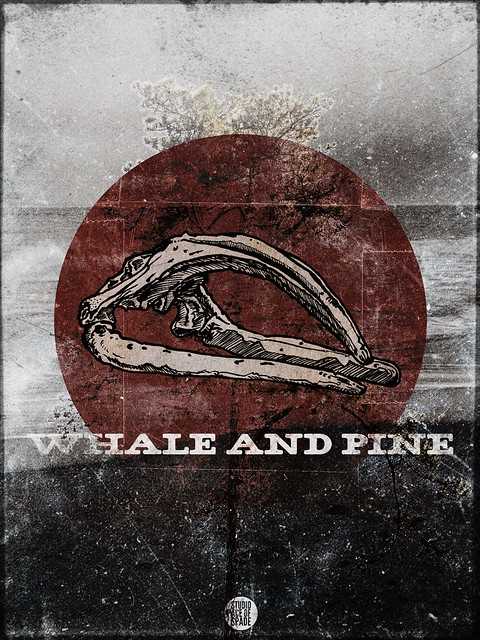 Studio Ace of Spade - Whale and Pine - Whale skull - 18x24""
