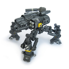 Tattaka v5 - Heavy Gunner (Fredoichi) Tags: lego space military walker micro mecha mech multiped microscale fredoichi