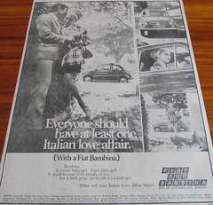 1969 Fiat 500 Bambina Ad (Five Starr Photos ( Aussiefordadverts)) Tags: 1969 microcar fiat500bambina fiataustralia
