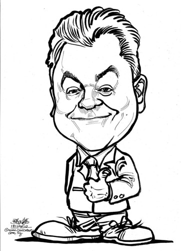 caricature for DHL - John Pearson