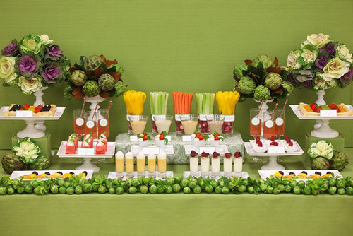 veggie wedding dessert table 1