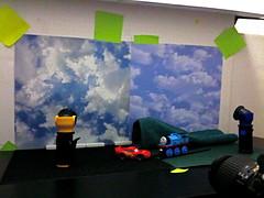Lightning McQueen vs. Thomas the Tank Engine Setup (JD Hancock) Tags: photo image picture cc setup inkitchen jdhancock