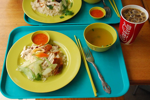 Hainan Chicken Rice & Thai Iced Coffee