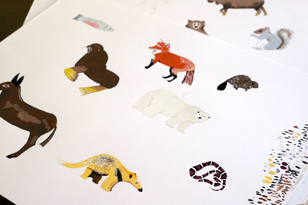 animal map print preview