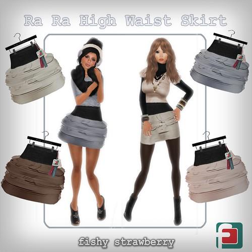 Ra Ra High Waist Skirt