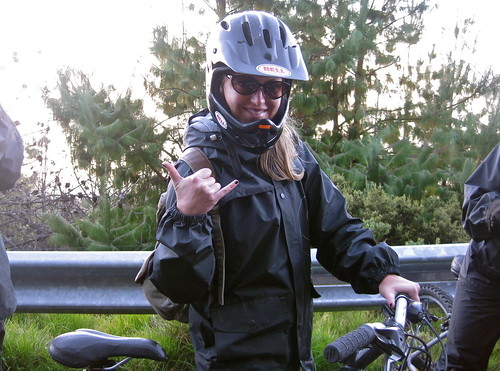 getting ready to bike down Haleakala... I know I look good!