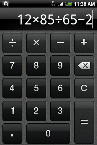 Free online scientific calculator by google.