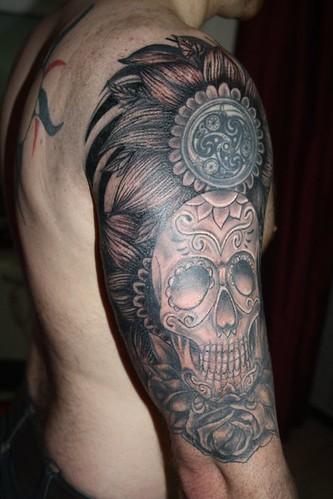 Zebra print flower tattoos - photo#4