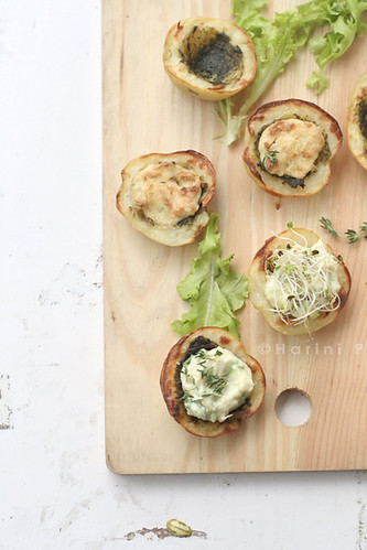 Stuffed Baked Potatoes with Vegan Cheese and Herb Filling