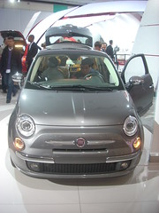 New Fiat 500 front view, Los Angeles Auto Show (LA Wad) Tags: california losangeles fiat downtownla chrysler southerncalifornia fiat500 laautoshow downtownlosangeles losangelescounty laconventioncenter losangelesconventioncenter losangelesautoshow picoboulevard figueroastreet fiatchrysler