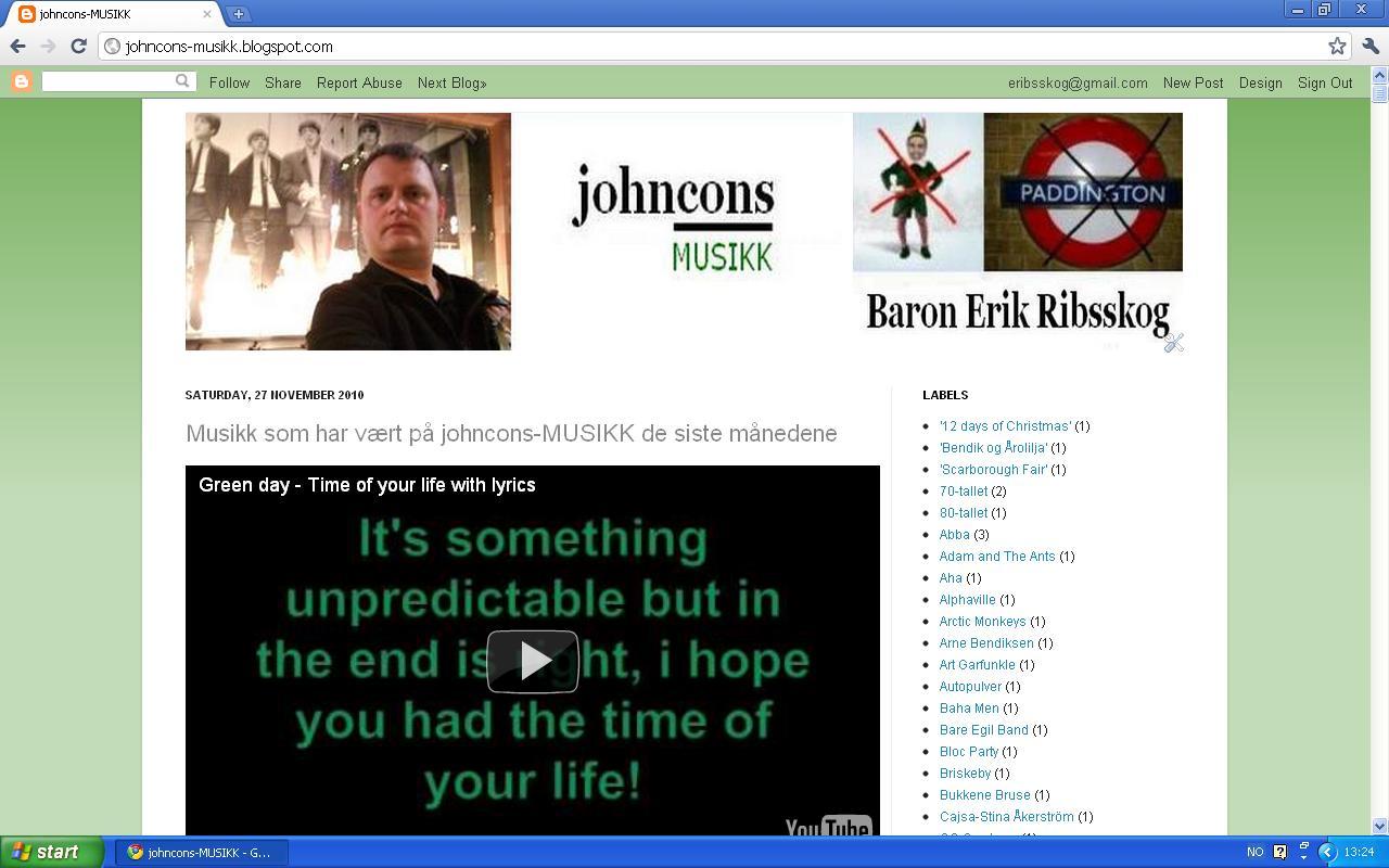 johncons musikk oppdatering