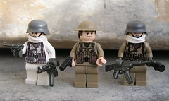 World War II Figures (ORRANGE.) Tags: white lego tan tommy ww2 germans brickarms