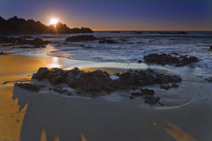 McClures Beach Sunset (David Shield Photography) Tags: ocean california sunset color beach coast sand rocks explore bayarea pointreyes mccluresbeach nationalseashore nikond700
