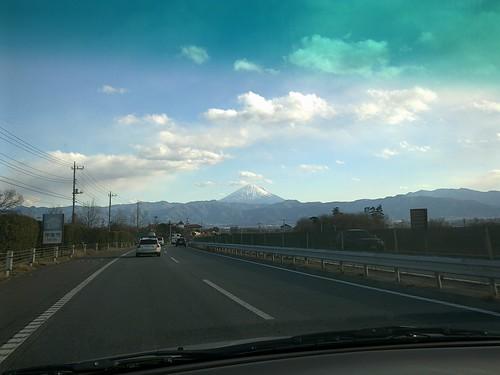 中央高速から富士山