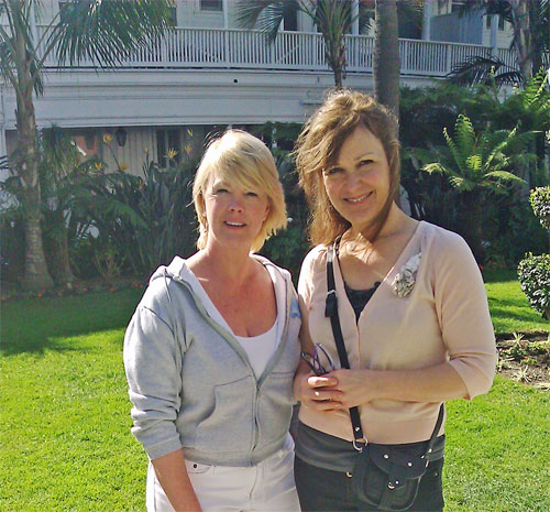 Dolores and Me standing in front of the Hotel Del, San Diego