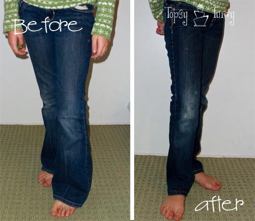 Transforming my bootcut jeans into Skinny Jeans | Ashlee Marie