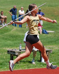 Javelin (GRey_WoLFie) Tags: college sunshine sport yellow nikon track nikkor athlete fit sporty 2010 80200mm compete greywolf javelin