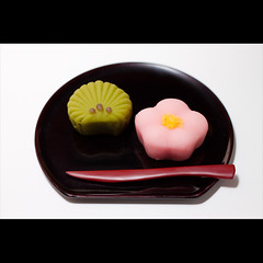 (Masahiro Makino) Tags: flower tree leaves japan pine photoshop canon eos japanese yummy kyoto kiss blossom plum delicious adobe  sweets  f18 ume  confection lightroom wagashi  x3  ef50mm gettyimagesjapanq1 20110103154828canoneoskissx3ls640p