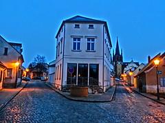 Gabelung Mühlenstraße Ecke Michaelisstr. in Werder (Havel) auf der Insel