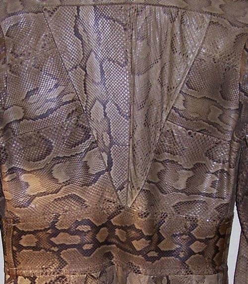 Ossie Clark python coat: back panel