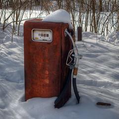 Fill Er Up (Majtek862) Tags: winter snow rust gas pump kansas fuel