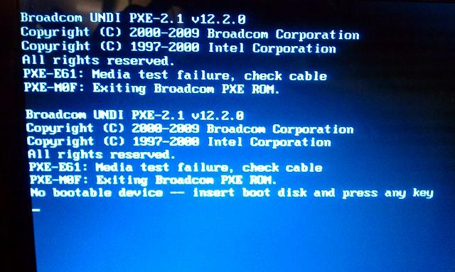 Pxe-e61 Error Message Virus