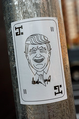 Joker (Karol A Olson) Tags: decal slapart washington dc noma president joker trump jun17