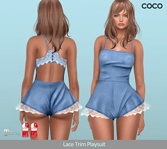 COCO_Fameshed_July (cocoro Lemon) Tags: coco fameshed fashion mesh playsuit lace secondlife maitreya slink