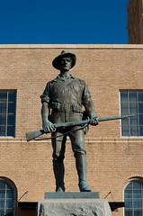 Warrior (dangr.dave) Tags: wichitafalls tx texas downtown historic architecture wichitacounty statue spanishamericanwar soldier