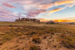 Sunset at Medicine Rocks_ (chasingthewildoutdoors) Tags: chasingthewildoutdoors landscape sky rocks badlands canon 5dmkii sigma sigmalens montana mt 406 beauty sunrise sunset skyscape nature photography natural