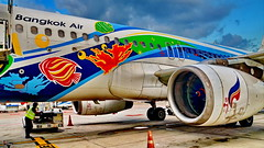 Bangkok Air ready for boarding (gerard eder) Tags: world reise travel viajes asia southeastasia thailand bangkok aeropuerto airport airplane airplanes aircraft aviation aviones aviación flugzeuge flughafen outdoor bangkokair