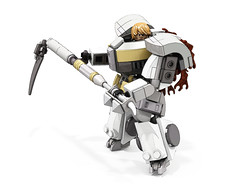 Terminator with scythe (Faber Mandragore) Tags: wip lego moc sci fi mecha warhammer 40k spacemarine terminator scythe
